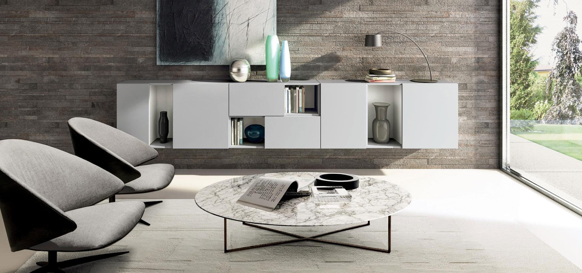 Salotto con letto a scomparsa interior design letti a for Divano letto low cost